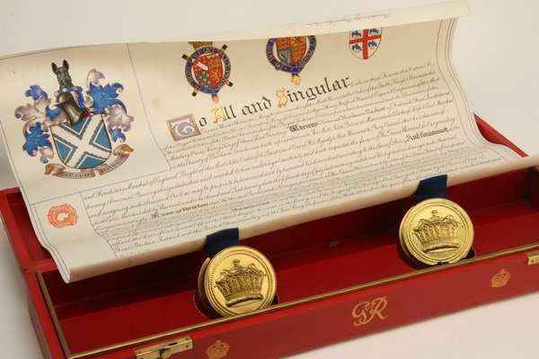 21: Royal warrant in original presentation box
