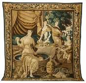 42: 18th c. Gobelin figural tapestry