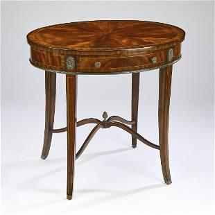 Maitland Smith mahogany occasional table