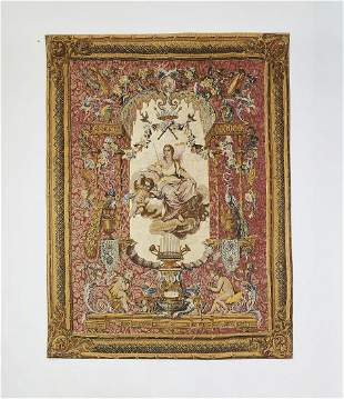 French 'Portique de Junon' silkscreen tapestry