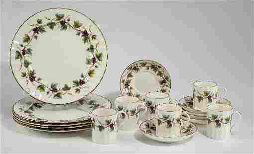Royal Worcester 'Bacchanal' pattern dessert service