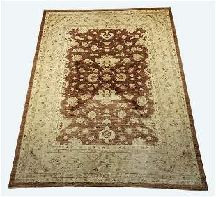 Hand knotted wool Indo-Oushak carpet, 14 x 10