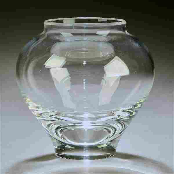 Signed Steuben crystal bouquet vase