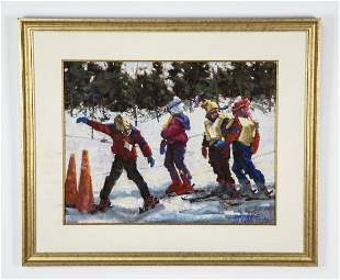 Betty Stephen signed pastel, 'Bright With Promise'