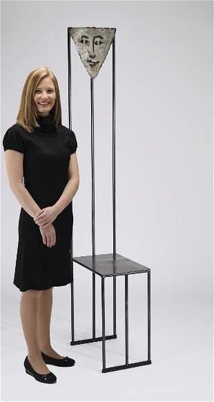 Pat Rybovich forged steel studio art chair, ca 1992