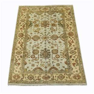 Hand knotted wool Indo-Oushak carpet, 9 x 6