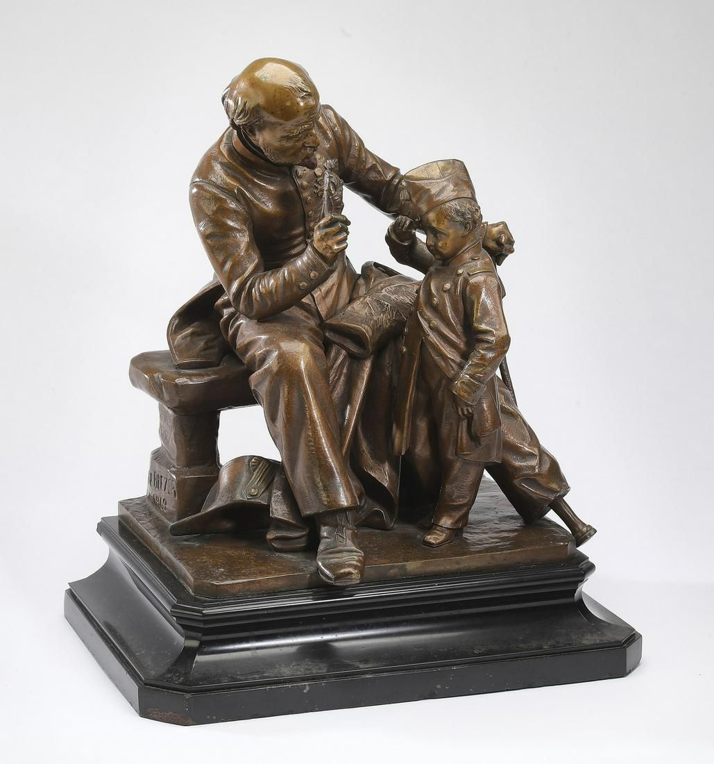 Joseph C. de Blezer (French) signed, dated bronze