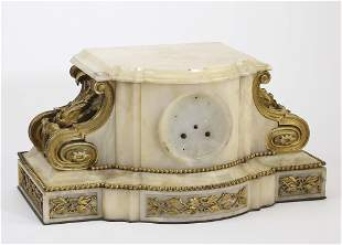 19th c. French gilt bronze and onyx clock base