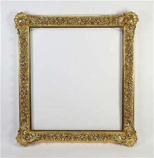 Italian carved and gilt frame with 20kt gold leaf