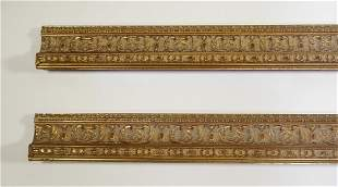 """(2) Italian carved and gilt decorative moldings, 119"""""""