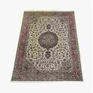 Hand knotted Persian wool Mashad carpet, 11 x 8