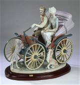 "Retired Lladro figure #1510  'A Sunday Drive' 17""l"