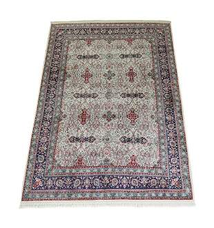 Hand knotted wool Indo-Persian carpet, 12 x 8