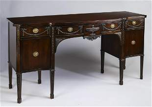 American Federal style carved mahogany sideboard