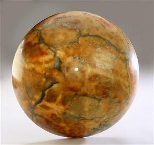 "Alabaster dome shade, 19.5""dia"