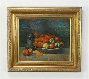 Robert Browne signed O/c still life with fruit