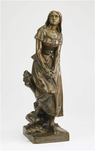 After Eugene Laurent (French) 'Joan of Arc' bronze