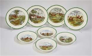 (8) Spode Herring The Hunt dinnerware c. 1940