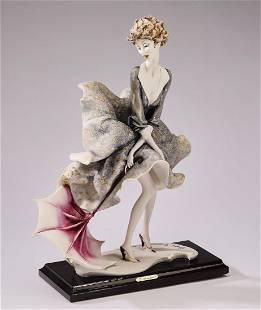 Giuseppe Armani sculpture 'Lady with an Umbrella'