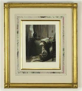 Circa 1849 hand colored engraving titled 'High Life'