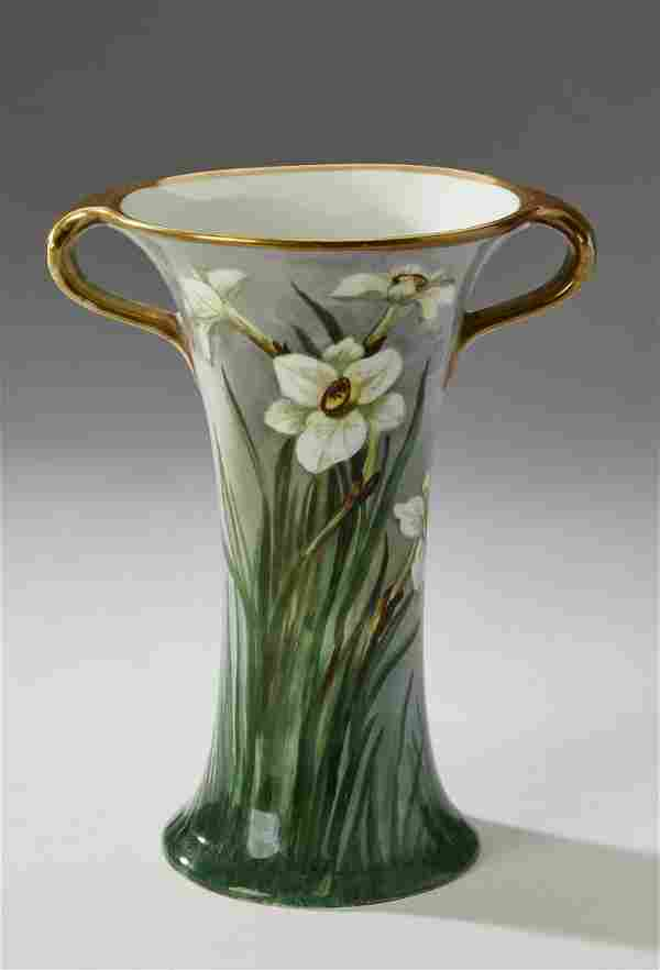 Leonard Bernardaud Limoges Art Nouveau vase, ca 1900