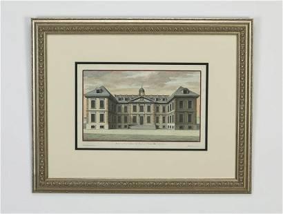 (3) 19th c. British architectural engravings