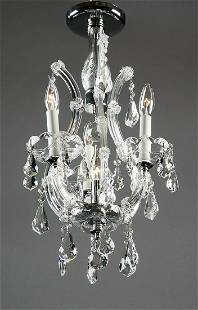Contemporary 4-light crystal chandelier