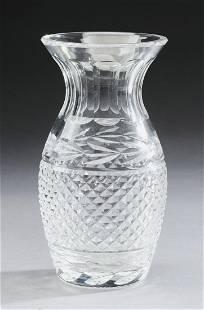 """Waterford cut crystal Glandore vase, 7""""h"""