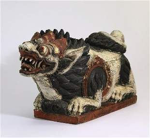 Balinese carved polychrome Barong