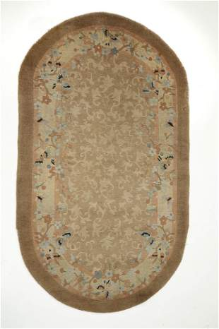 Circa 1930s hand knotted Chinese Art Deco carpet