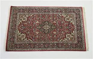 Hand knotted Persian silk on silk rug, 7 x 5