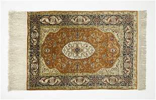 Persian Qum silk on silk rug