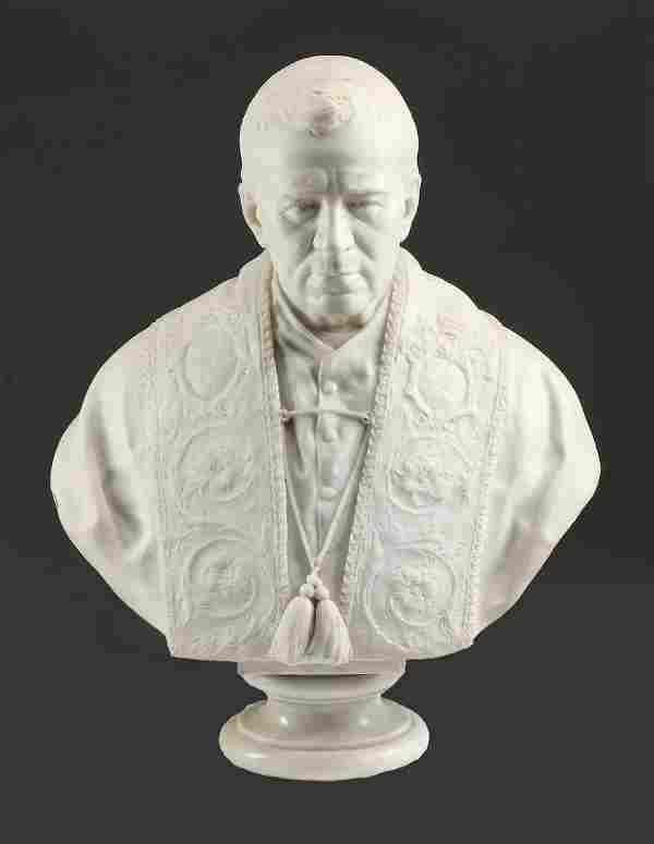 Italian carved marble sculpture of Pope Pius X