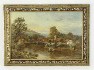 Henry Cooper (English) signed O/c landscape