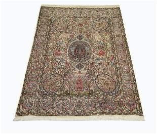 Hand knotted wool Persian Kerman carpet, 13 x 10