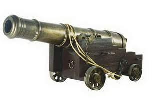 """Full size bronze replica cannon, 69"""" long"""