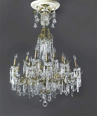 Continental 18-light crystal chandelier