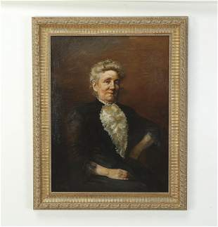 Ludwig Bang signed O/c half portrait of a matriarch