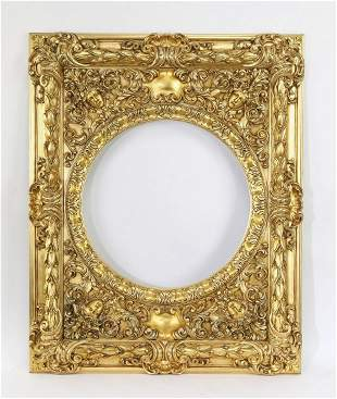 Extravagant Italian carved and gilt frame