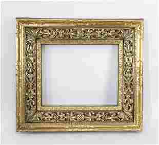 Italian pierce carved giltwood frame