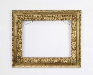 Italian carved giltwood frame