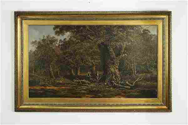 Stanley Allan (British) signed O/c, forest scene