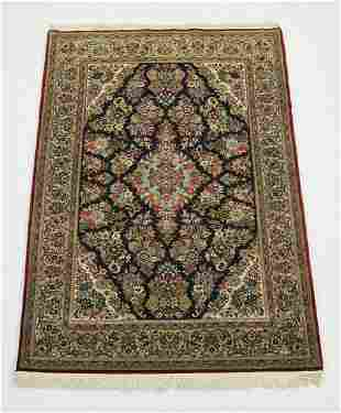 Hand knotted wool Indo-Kerman carpet, 7 x 5