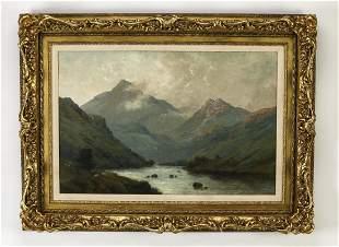 Alfred de Breanski Sr., signed O/c Wales landscape