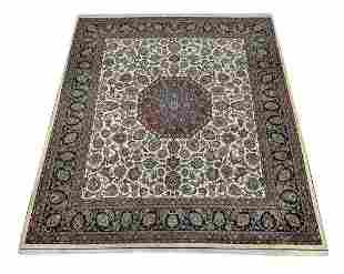 Hand knotted wool Persian Mahal 13 x 12