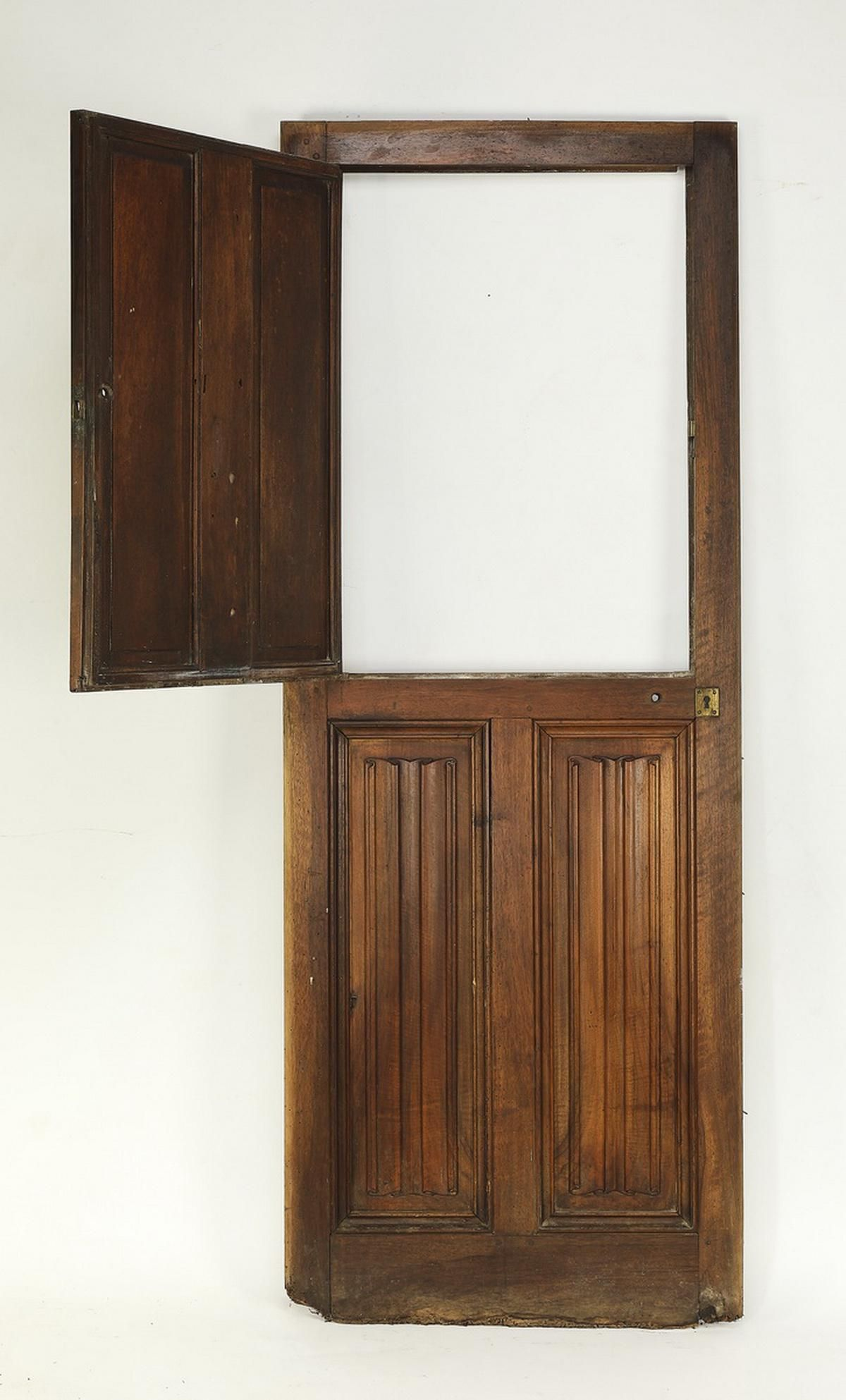 Early 20th c. Gothic Revival double hung door