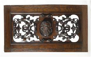19th c. Italian highly carved architectural panel