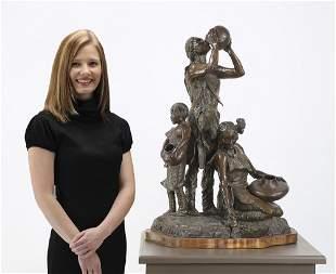 Daro Flood signed, numbered bronze sculpture