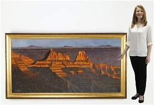 Monumental signed Roy Swenson O/c 'Canyon Sunset'
