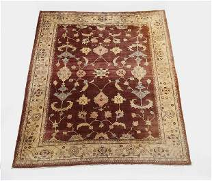 Indo-Sultanabad hand knotted wool carpet, 10 x 8
